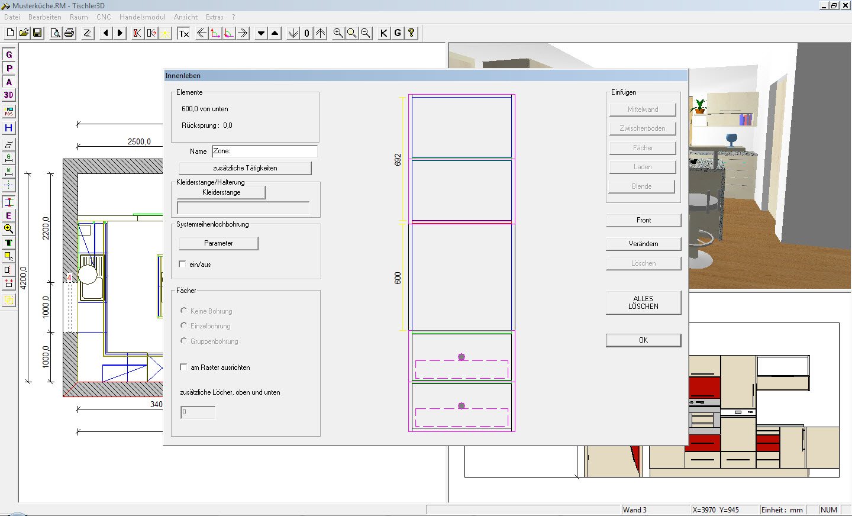 EDV Pichler - Tischler3D-Zeichenprogramm